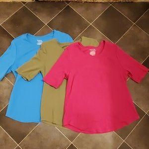 3 cotton T shirts, size Large.EUC